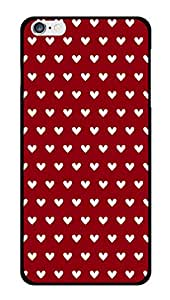 """Humor Gang White Hearts - Red Printed Designer Mobile Back Cover For """"Apple Iphone 6 PLUS-6s PLUS"""" (3D, Glossy, Premium Quality Snap On Case)"""