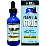 FORMULA ONE TM All Natural Diet Drops with African Mango. For use with the Formula One Diet Plan, Includes Allowable Foods List, Basic Diet Instructions Guide & Our Top Rated Customer Service. - 2FL oz