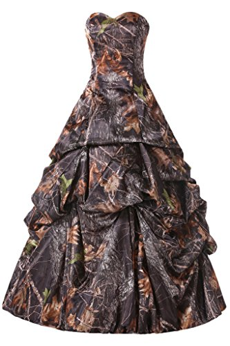 Gorgeous Bridal Floor Length Bandage Wedding Gown for Bride Camo Glorious- US Size 16