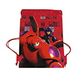 Officially Licensed Disney Drawstring Bag - Big Hero 6 Red