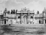 1860~1890 photo Constantinople. Gate of Beshiktash palace Vintage Black & White Photograph