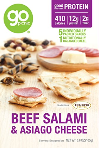 GoPicnic Ready-to-Eat Meals Salami & Cheese, 3.6 Ounce, (Pack of 6) (Picnic Foods compare prices)