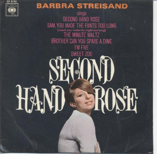 Original album cover of Second Hand Rose by Barbra Streisand