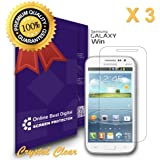 OBiDi - Samsung Galaxy Win Screen Protector, Transparent / HD Clear - OBD Retail Packaging (Pack of 3)