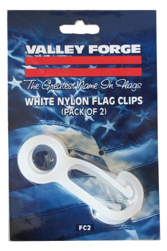 Valley Forge Flag Fc2 2-Count 2-1/2-Inch Nylon Flag Pole Snap Hooks