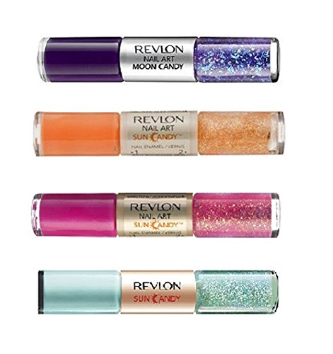 Manicure Pedicure Nail Color Set of 4: Revlon Moon Candy & Sun Candy Nail Art : Orbit , Fiery Sky , Shimmering Sunset , Sun Shower (Revlon Moon Candy Nail Polish compare prices)