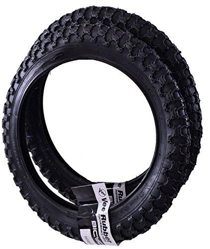 """Vee Rubber VRB024 - Coppia di pneumatici per biciclette da bambini, di tipo 57-254, misura: 14"""" x 2,125"""" (35,56 x 5,4 cm), colore: nero"""