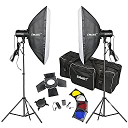 Emart Photography Studio Flash Strobe Complete Kit With Soft Box and Light Stands