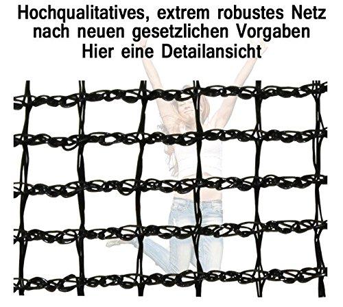 Miganeo® Ersatznetz Größen 183 bis 488cm, Frabe pink, für Trampolin Sicherheitsnetz (305cm) -
