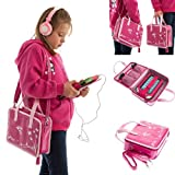 Ultimate Addons Girls Handbag Audio Bundle for LeapFrog LeapPad Ultra including Pink Headphones (Pink)
