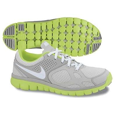 Nike Women's Flex Trainer 2012 Running Shoe Gray/White/Neon (6)