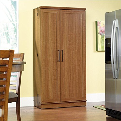 Sauder Home Plus Storage Cabinet with Sienna Oak Finish (Sauder Pantry Cabinet compare prices)