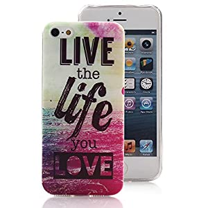 iPhone 5 5S Case, Ludan Painted Series Quote Case Super Lightweight Slim Protective TPU Gel Back Case Cover for 4 inches iPhone 5 5S from Ludan