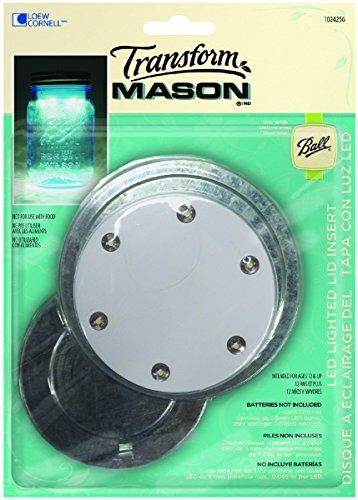 Loew Cornell TransformMason LED Lighted Lid Insert (Transform Mason Ball Lid Inserts compare prices)