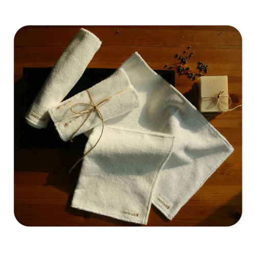 100% Organic Cotton Hand Towel _ 5 Pack front-616033