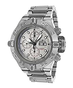 Invicta Men's 12442T Subaqua Analog Display Swiss Quartz Silver Watch