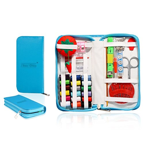 Find Bargain Mini Beginner Sewing Kit Case Set Supplies for Adults Kids Home Travel Campers Emergenc...