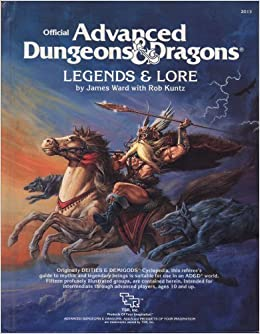 Advanced Dungeons and Dragons, Legends and Lore Hardcover – November