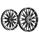 Kingway JS2D Zipp Bike Alloy Wheel Set of 2 19/19 Inch Black CNC-Royal Enfield Electra