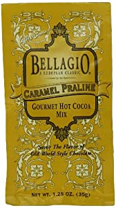 Bellagio Caramel Praline Hot Cocoa Mix, 1.25-Ounce Packets (Pack of 25)