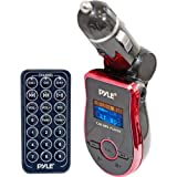 Pyle PMP3R2 Mobile SD/USB/MP3 Player with Built In FM Transmitter - Red