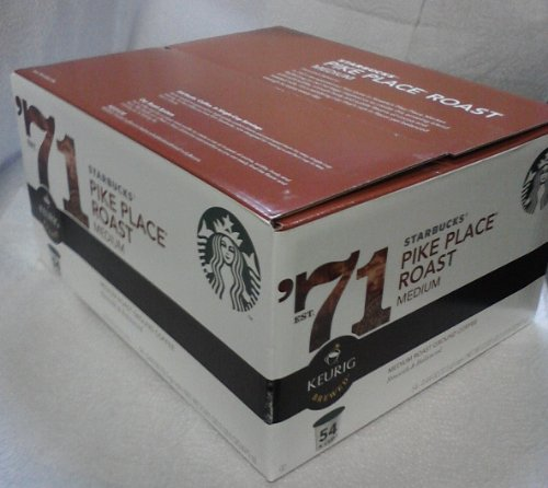 Starbucks K Cup Coffee  Pikes Place  54 pack