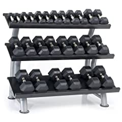 Buy Hampton Fitness Dura-Bell 13 Pair Dumbbell Set with 3T-FLT Rack by Hampton