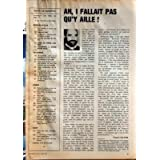 TELERAMA N? 1529 du 02-05-1979 TOM WAITS LE BLUES DES SNACKS - COUVERTURE TOM WAITS - CA VA MIEUX EN LE DISANT...