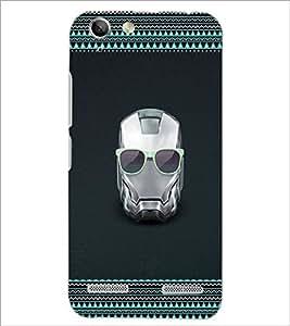 PrintDhaba Mask D-2513 Back Case Cover for LENOVO A6020a46 (Multi-Coloured)