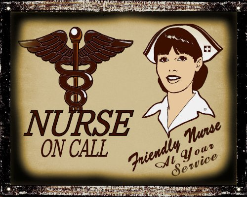 Nurse Rn Sign Hospital Medical Office Retro (33% Bigger Than 8 By 10 Inch) Vintage Wall Decor 141
