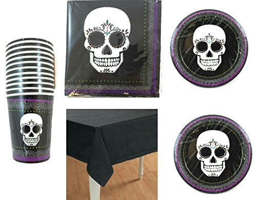 Day Of The Dead Dia De Los Muertos Party Pack For 12 Guests