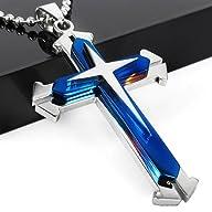 Stainless Steel Cross Pendant Men's N…