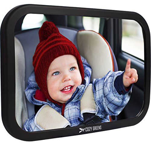 Cozy-Greens-Baby-Car-Mirror-Back-Seat-Rear-facing-Infant-In-Sight-Luxury-Gift-Box-CRASH-TESTED-FREE-GIFTS-Cleaning-Cloth-Traveling-With-Kids-eBook-Lifetime-100-Satisfaction-Guarantee