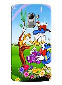 Clarks Donald Duck Hard Plastic Printed Back Cover Case For Lenovo K4 Note