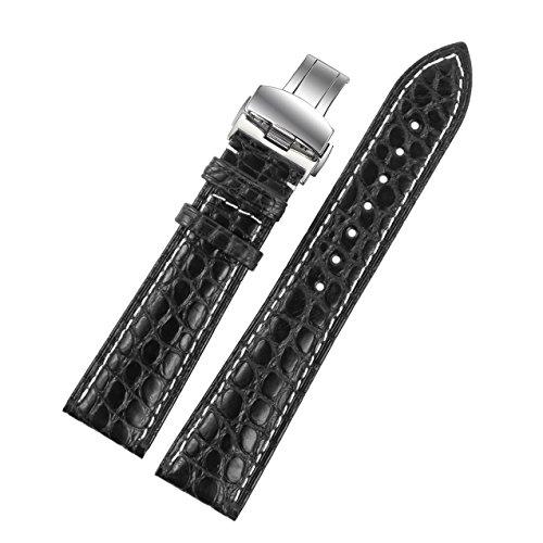 18mm-alligatore-nero-cinturini-in-pelle-di-sostituzione-bande-con-cuciture-bianche-per-orologi-di-lu