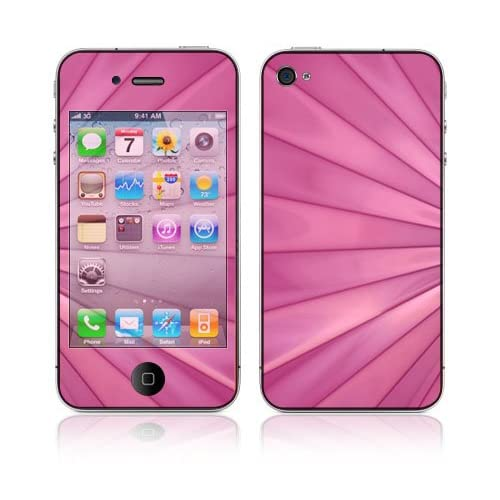 Pink Lines Decorative Skin Cover Decal Sticker for Apple iPhone 4 16GB 32GB (AT&T) ONLY