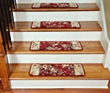Premium Carpet Stair Treads - Chelsea Garden Red (13)