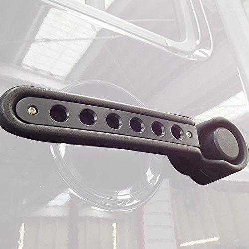 ICars Black Door Handle Inserts Front Rear Aluminum Grab Handle Cover Trim for 2007 - 2016 Jeep Wrangler JK & Unlimited Accessories 4 Door- 5 Pcs (Pink Door Handle Trim compare prices)
