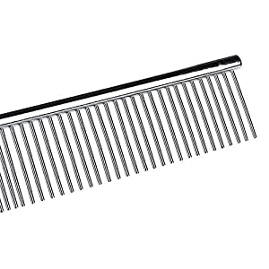 LuWees 7.5 Inch Stainless Steel Dog Grooming Hair Comb