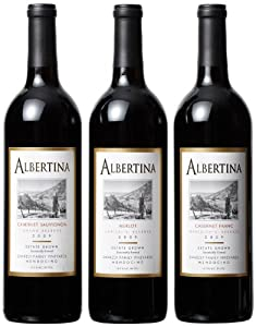 Albertina Wine Cellars Best of Mendocino County Mixed Pack, 3 x 750 mL