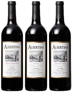 Albertina Wine Cellars Best of Mendocino County Mixed Pack, 3 x 750 mL
