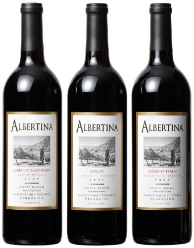 Albertina Winery  Best of Mendocino County Mixed Pack, 3 x 750 mL