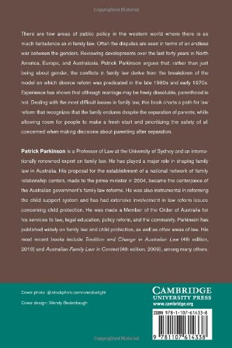 Family Law and the Indissolubility of Parenthood Paperback