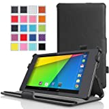 MoKo Google New Nexus 7 FHD 2nd Gen Case - Slim-Fit Multi-angle Stand Cover Case BLACK (With Smart Cover Auto Wake / Sleep Feature)