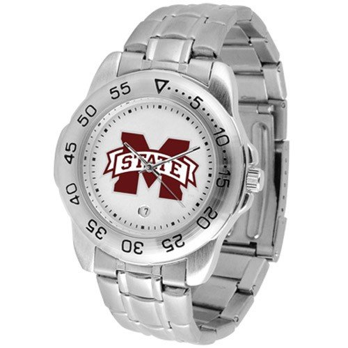 Mississippi State Bulldogs Mens Stainless Steel Game Day Sports Watch