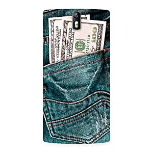 Delighted Pocket Full Jeans Multicolor Back Case Cover for One Plus One