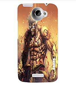 ColourCraft The Demon Design Back Case Cover for HTC ONE X