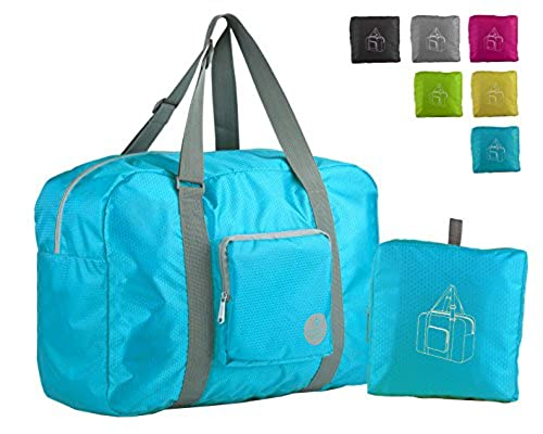 06. Wandf Foldable Travel Duffel Bag Luggage Sports Gym Water Resistant Nylon
