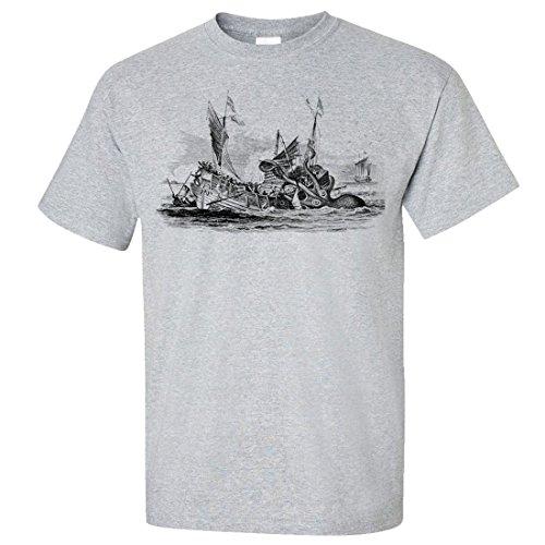 Release The Kraken Unisex T-Shirt/Tee By Dsc - Sport Grey 3X-Large front-431797