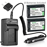 Kastar Battery (2-Pack) + Charger for Sony NP-FH50, NP-FH40, NP-FH30 and DSLR-A230, DSLR-A330, DSLR-A290, DSLR-A380, DSLR-A390, HDR-TG1E, HDR-TG3, HDR-TG5, HDR-TG7, DSC-HX1, DSC-HX200, DSC-HX100V